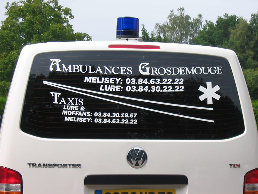 Ambulances Grosdemouge vitre